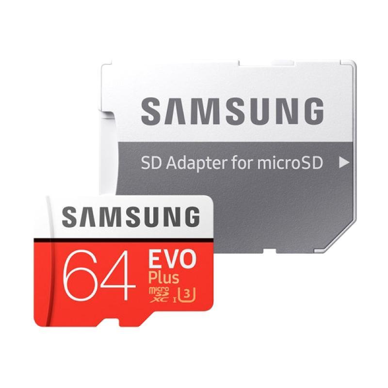harga Samsung Evo Plus MicroSDXC UHS-3 Memory Card with Adapter [Class 10/64 GB] Blibli.com