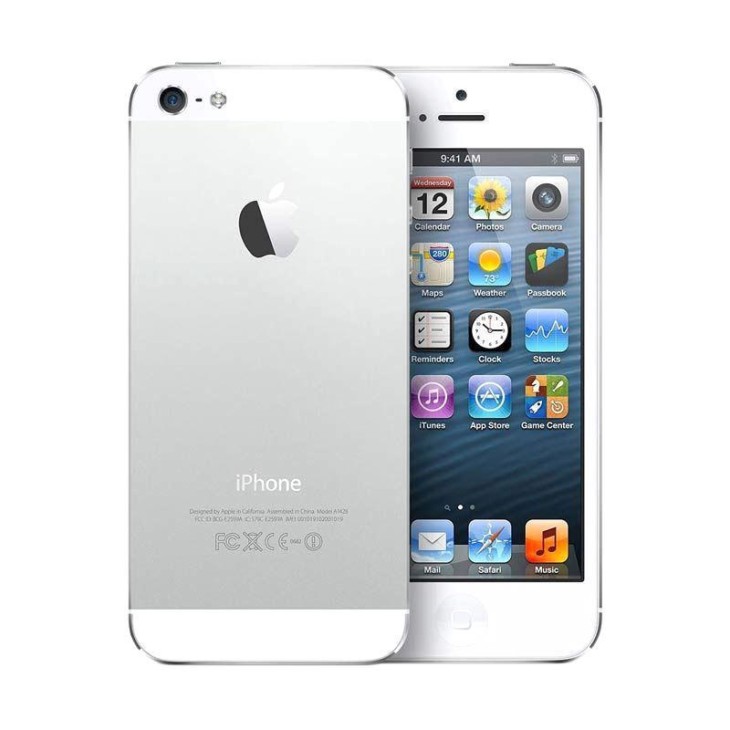 Apple iPhone 5 64 GB Smartphone - White - 9306807 , 15793421 , 337_15793421 , 1970000 , Apple-iPhone-5-64-GB-Smartphone-White-337_15793421 , blibli.com , Apple iPhone 5 64 GB Smartphone - White