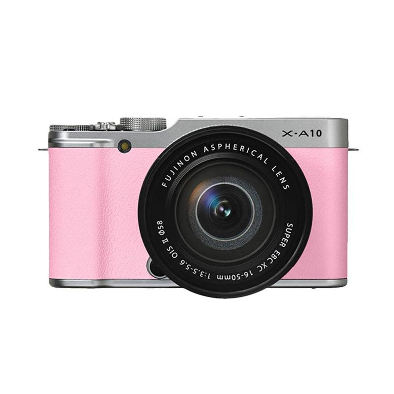 Fujifilm X-A10 Kit 16-50mm Kamera Mirrorless - Pink [16 MP]
