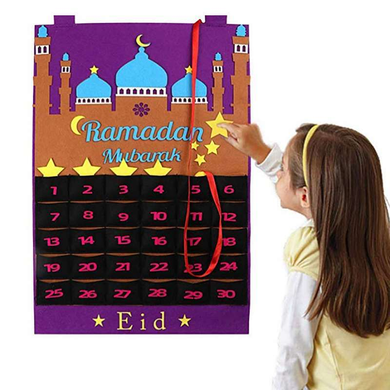 Jual Ramadan Calendar Eid Mubarak Hanging Calendar Advent Calendar 2021 For Kids Eid Gifts Ramadan Decorations Online Mei 2021 Blibli