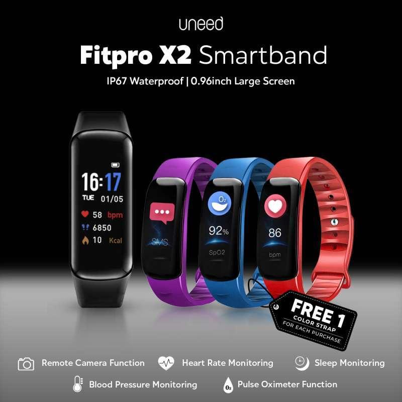 UNEED Fitpro X2 Smartband IP67 Waterproof Blood Oxygen Heart Rate