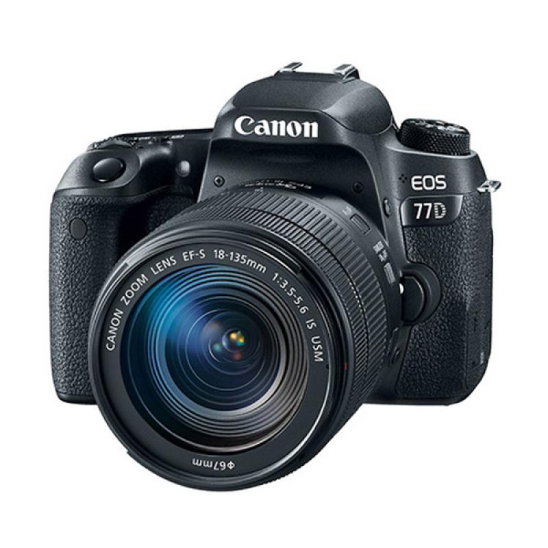 Canon EOS 77D Kit 18-55mm Kamera DSLR [WiFi]
