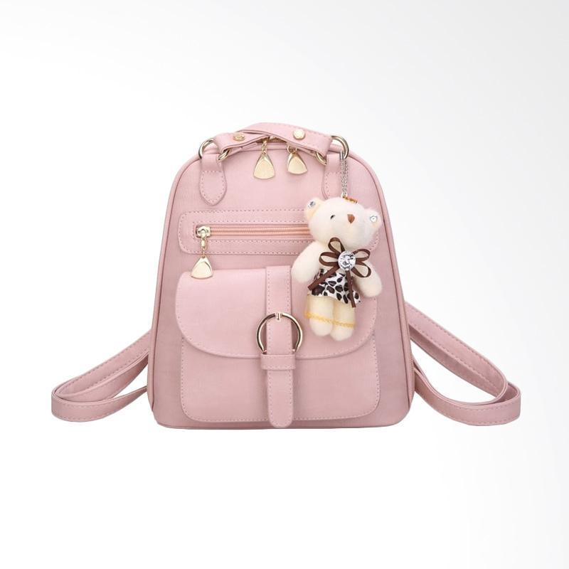 Fashion 888 53389 Backpack Tas Wanita - Pink