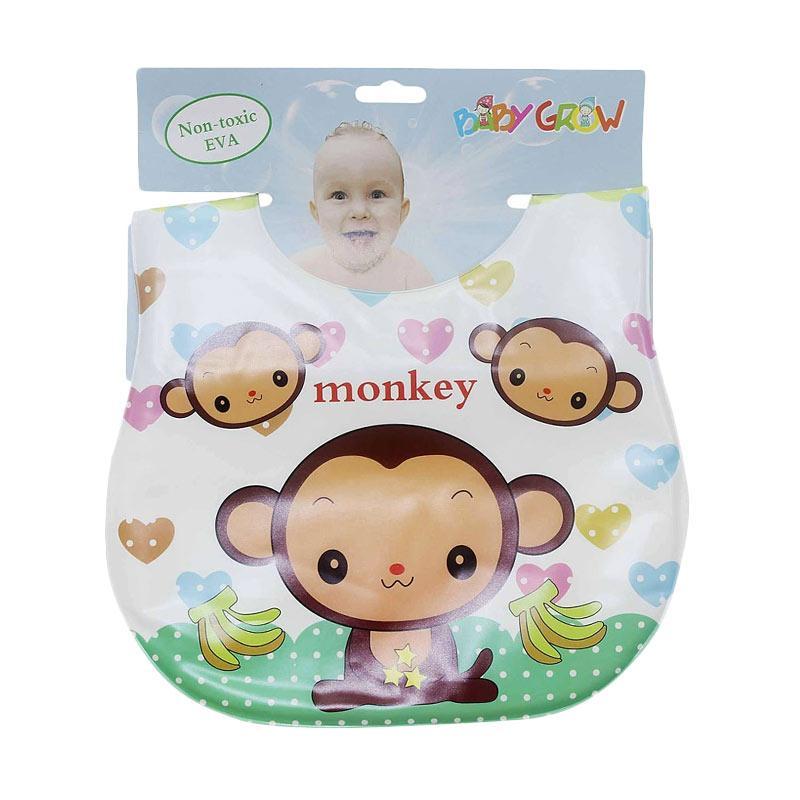Chloebaby Shop S273 Bib Sleber Baby Plastik Monkey Baby Grow Celemek Bayi