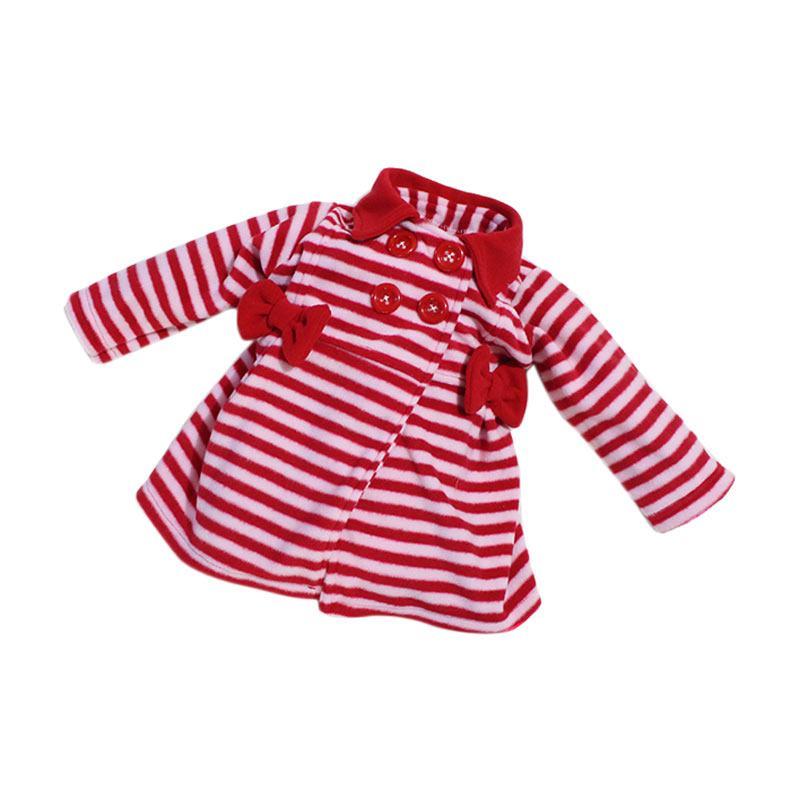 Bibbo Baby Blazer Stripe Jaket Bayi Perempuan - Red