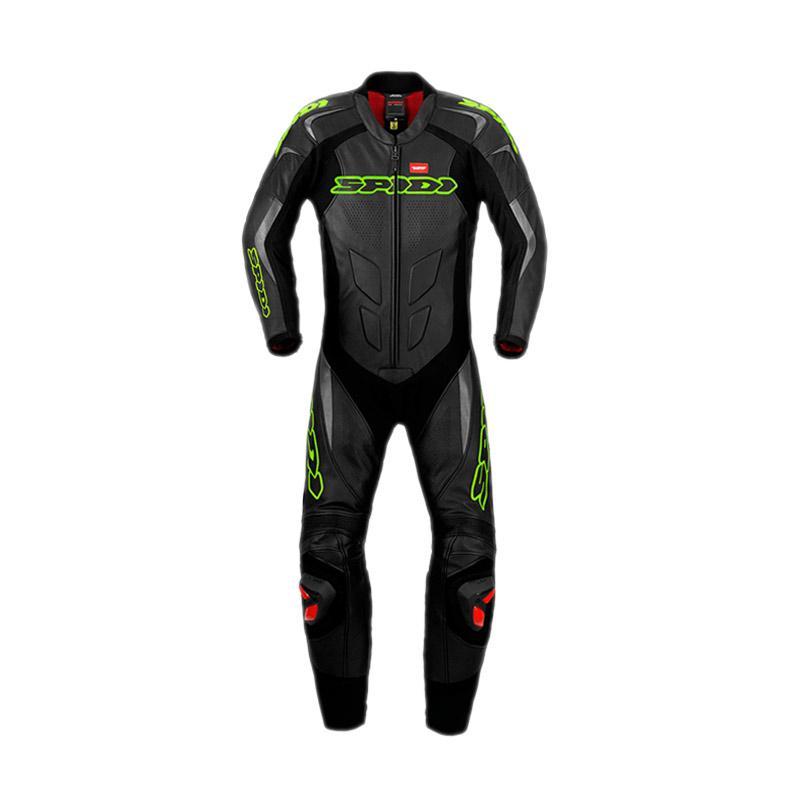 Spidi Super Sport Wind Pro Jaket Motor - Acid Green Black