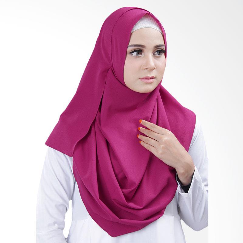 Cantik Kerudung Bella 2 Face Hijab Instant - Magenta No.5