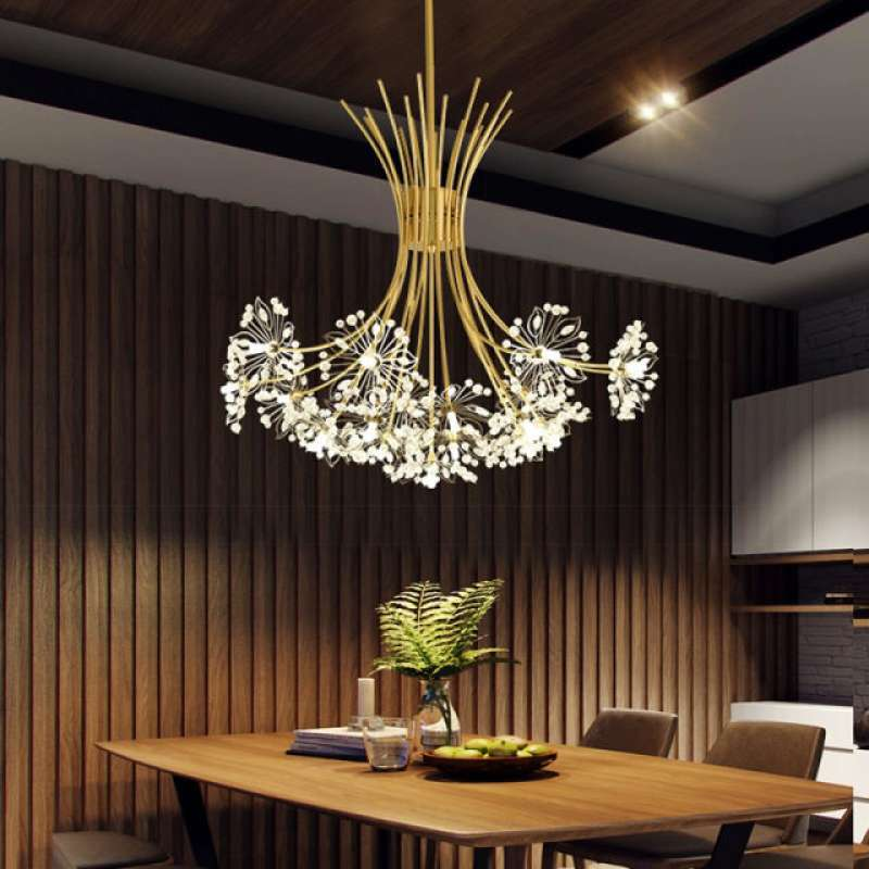 Modern Art Deco Led Crystal Hardware, Chandelier Hanging Hardware