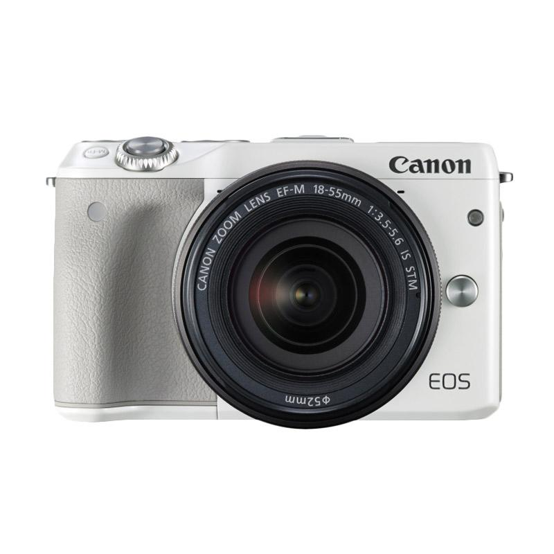 Canon EOS M3 Kit 15-45 IS STM White (Resmi PT Datascrip) Mirrorless