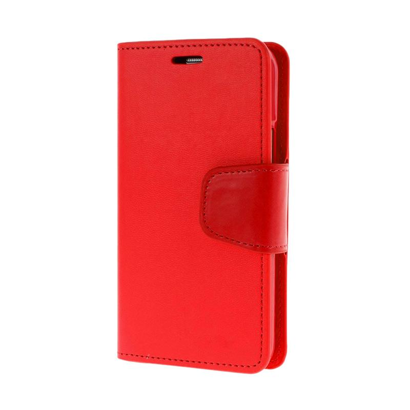 Mercury Standing Flip Cover Casing for Samsung Galaxy Grand 2 - Red