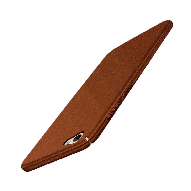 WEIKA Sand Scrub Ultra Thin Hardcase Casing for Vivo V5/V5 Lite/V5s - Coklat