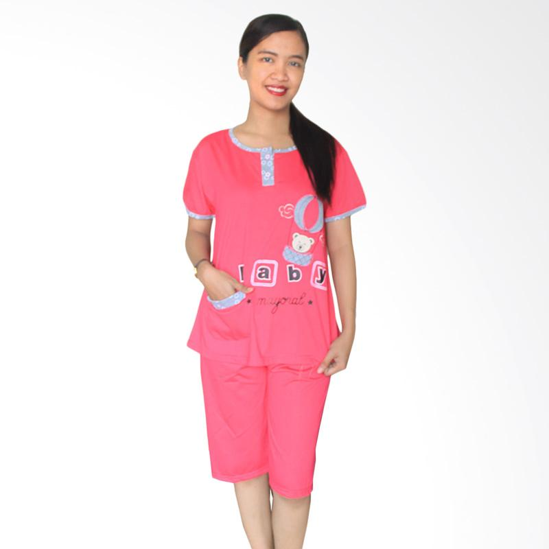 Aily 1055 Setelan Baju Tidur Wanita - Pink