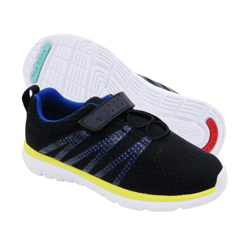 ToeZone Kids Topher Nova Yt Sepatu Anak - Black Blue
