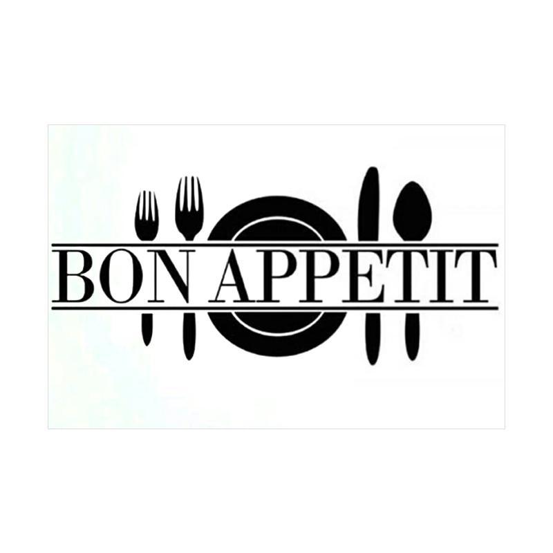 OEM Bon Apetit Kitchen Wall Sticker Dekorasi Dinding