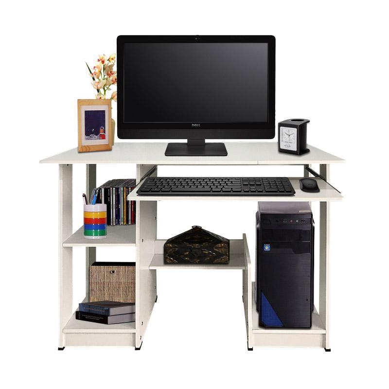 Best Furniture Cooldesk Meja Komputer - Dusty Off White [uk 90 x 43 cm]