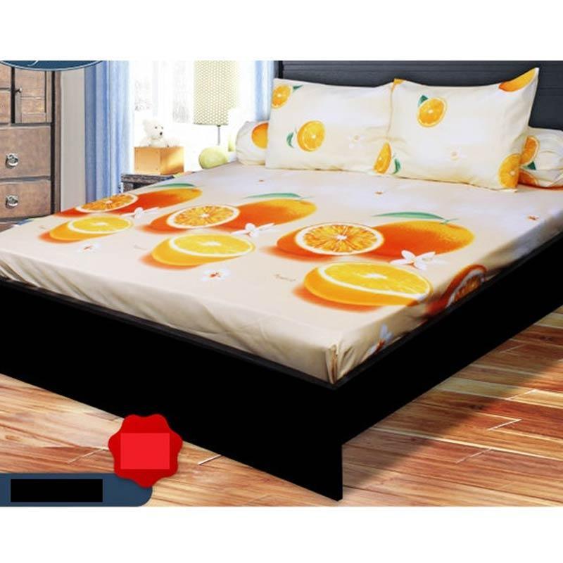 California Motif Orange Set Sprei [180 x 200 x 20 cm]