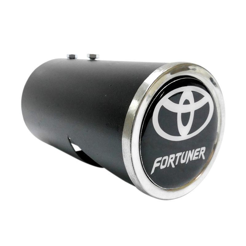 SIV Aksesoris Buntut Knalpot for Toyota Fortuner - Hitam [FORT BKT]