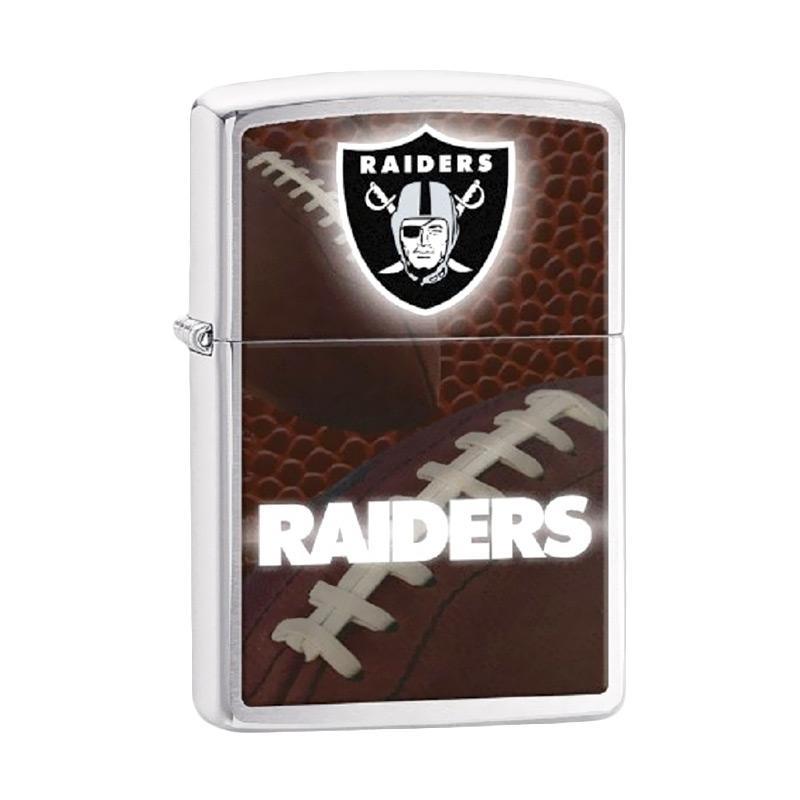 Zippo NFL Oakland Raiders Brushed Chrome Pocket Lighter