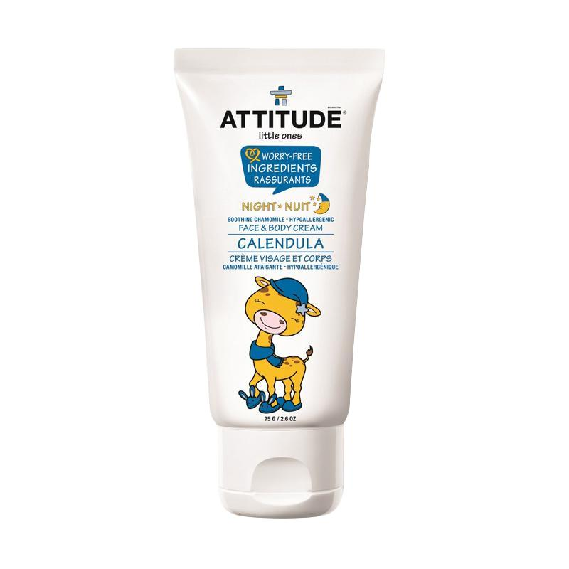 Attitude Calendula Soothing Chamomile Night Face & Body Cream for Baby
