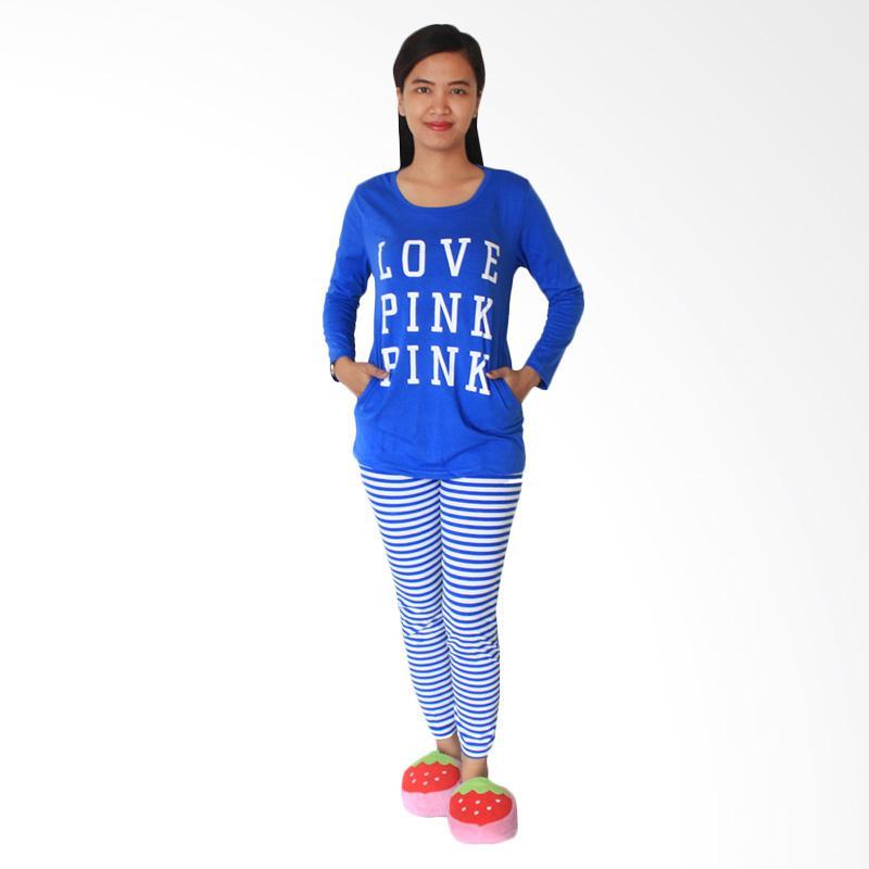 Aily 3669 Setelan Baju Tidur Wanita -  Biru
