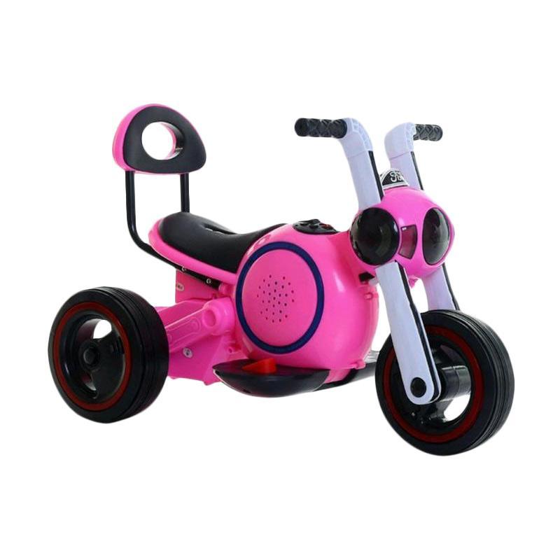 Swell Korean Ride On Kids Motorcycle Motor Aki - Pink