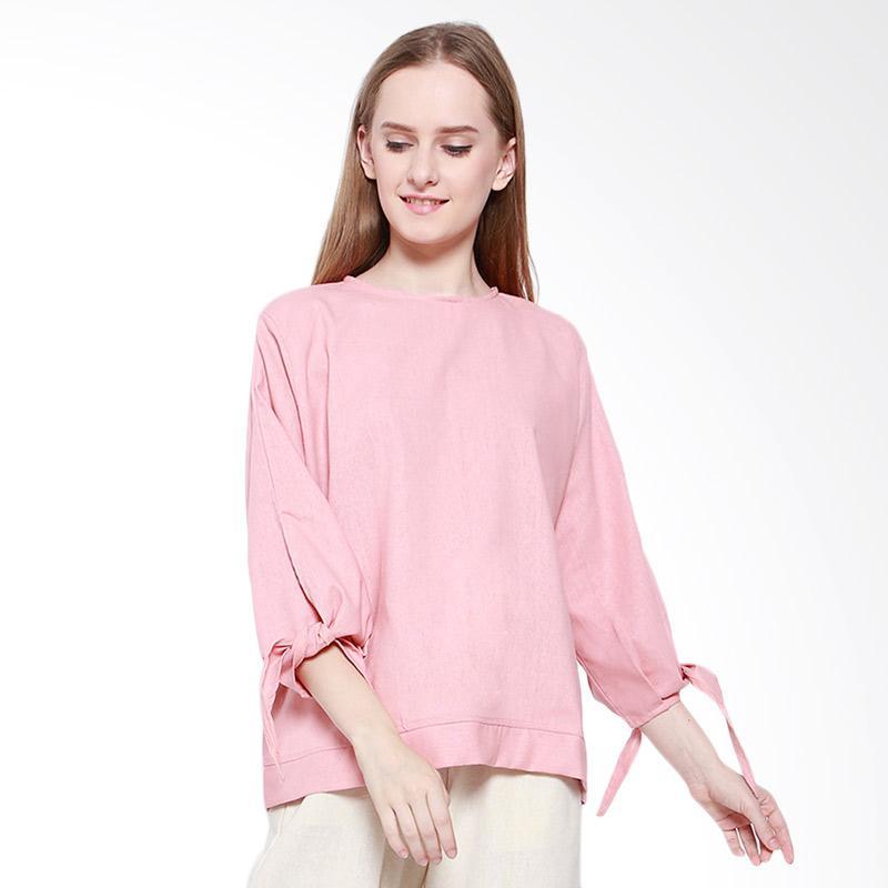 Delarosa Linen Tunik Casual Atasan Wanita - Pink