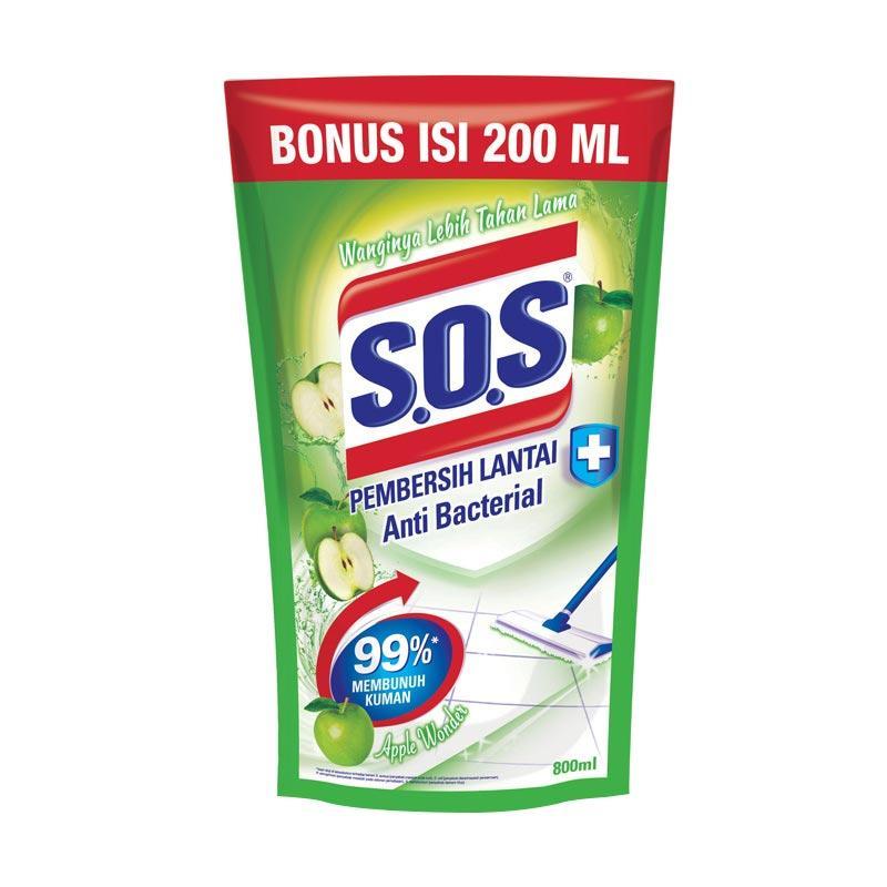 SOS Apple Wonder Refill Extra Pembersih Lantai [800 mL]
