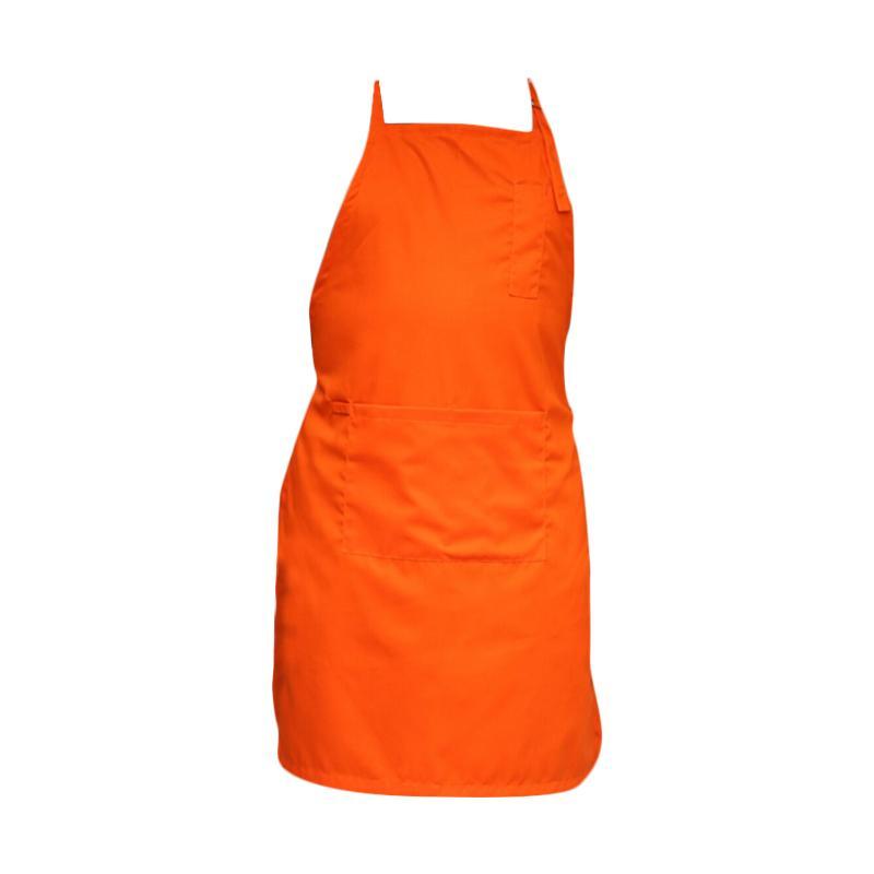 Malika Indo Apron Full Celemek Masak - Orange