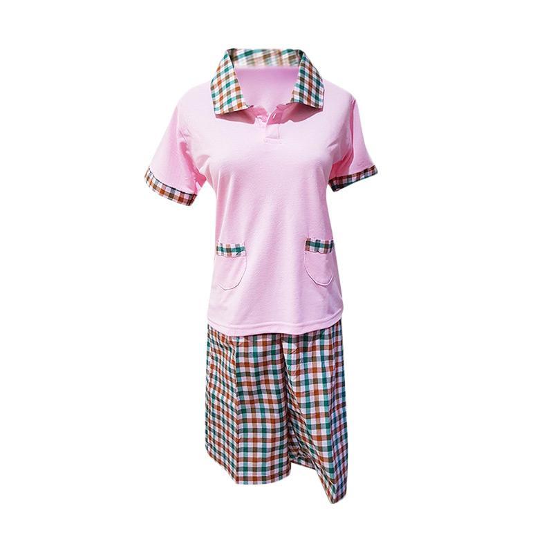 Kiyomi Kaos Kulot Seragam Babysitter - Pink