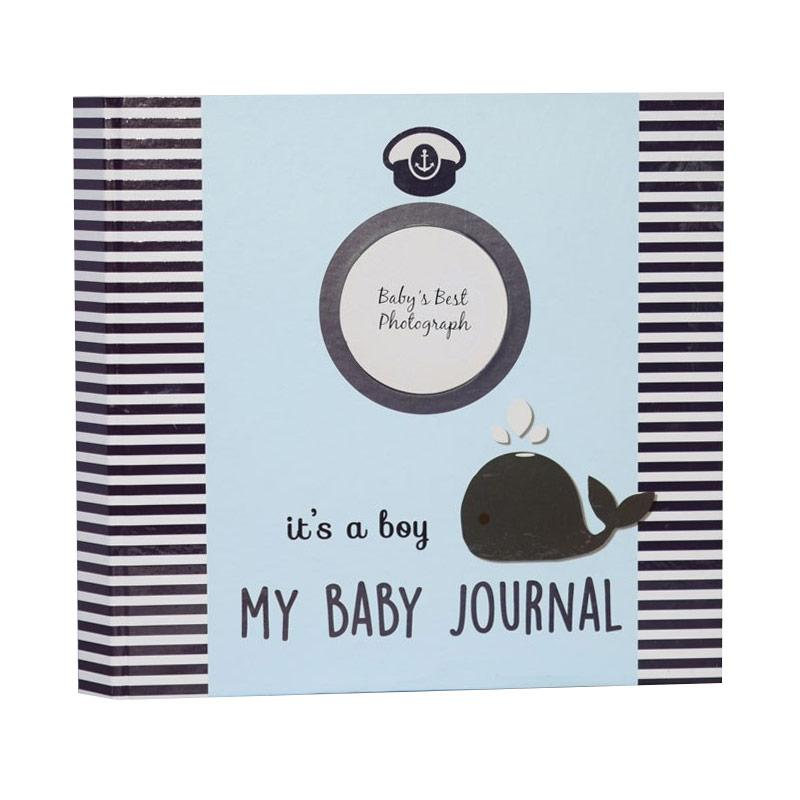 Hugmemom My Baby Journal Blue Whale