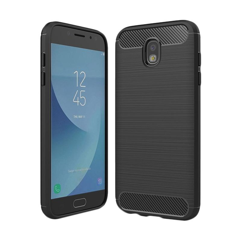 Ipaky Carbon Rugged Casing for Samsung Galaxy J5 Pro or J530 [Hitam]