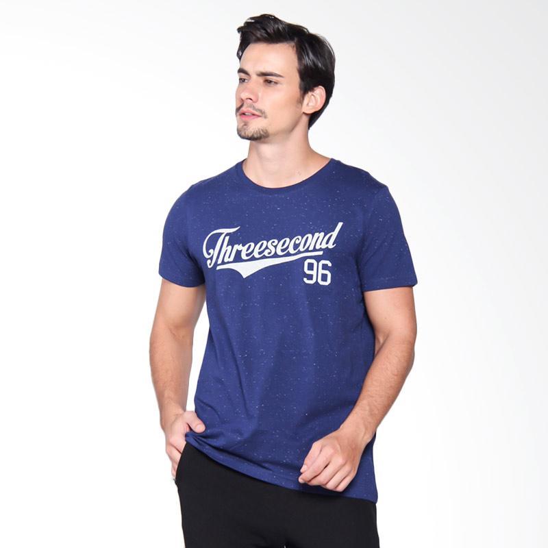 3Second 4309 Tshirt Pria - Blue 143091712