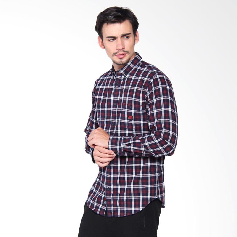 3Second 0109 Shirt Pria - Red 101091711