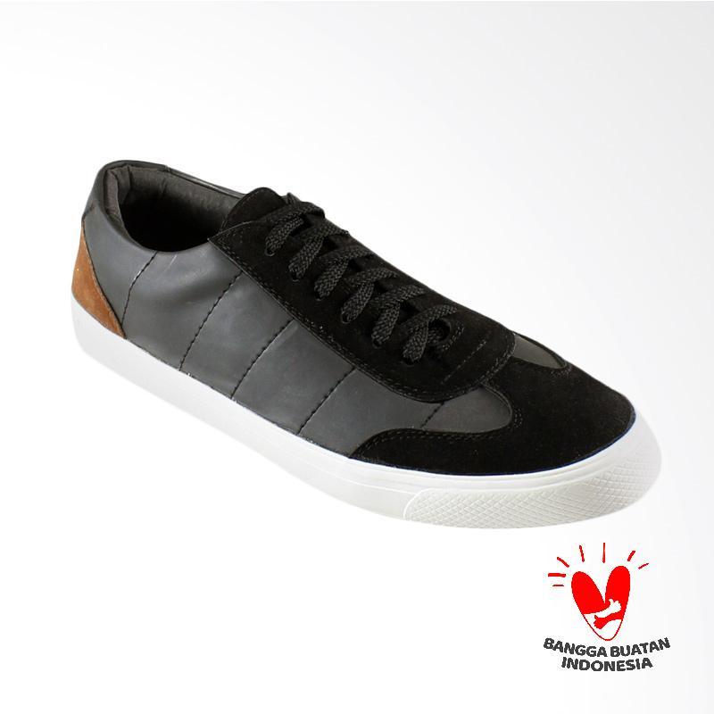 Dane And Dine Walko Sneaker Pria - Black