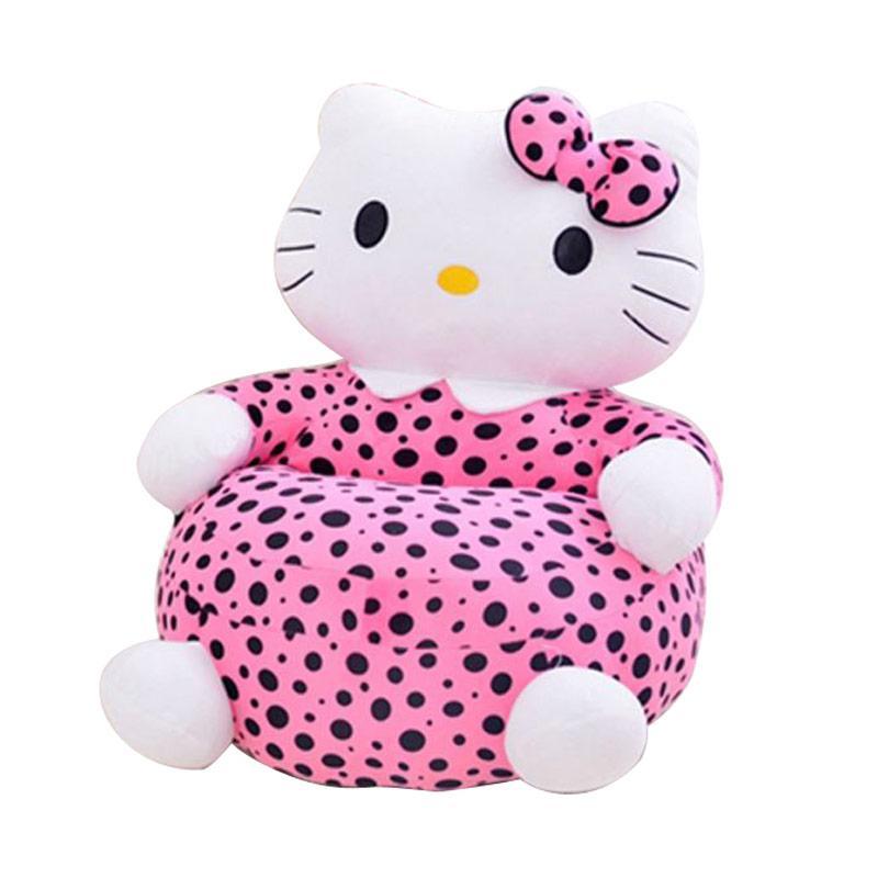 Hello Kitty HK Polkadot Full Body Single Sofa - Pink White Black