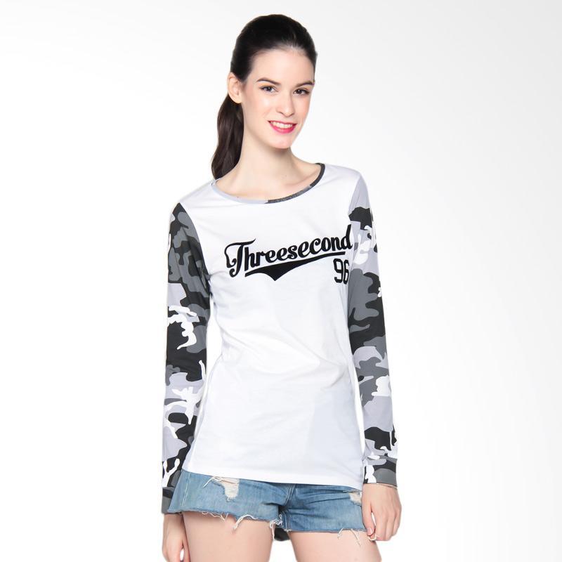 3 Second Ladies 115081722 Tshirt 3008 Kaos Wanita - White