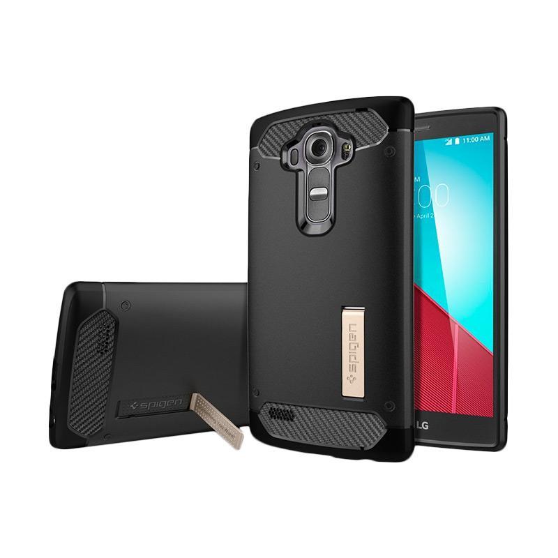 Spigen Rugged Armor Carbon Fiber Design Casing for LG G4 2015 - Black