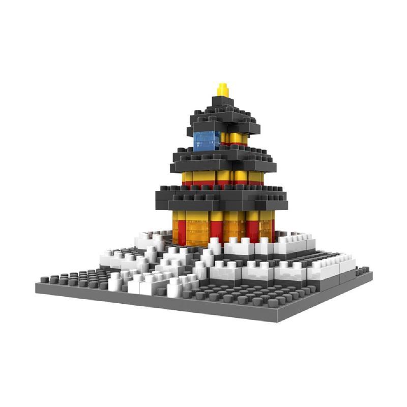Loz Diamond Block World Famous Architecture Series 9364 Temple Of Heaven Beijing Mainan Blok & Puzzle