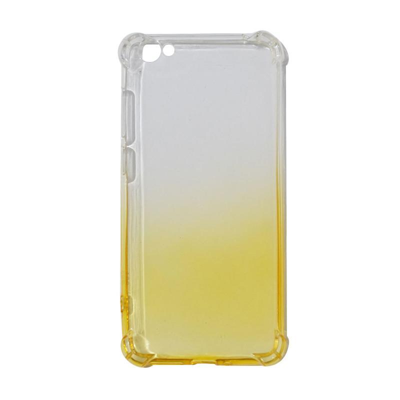 QCF BUY 1 GET 1 Softcase Anti Shock Anti Crack Warna Gradasi Silicone Casing for Vivo Y55 Ultrathin / Case Unik - Kuning (Free Warna Random)