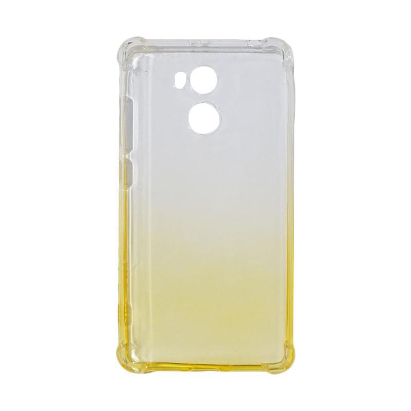 QCF BUY 1 GET 1 Softcase Anti Shock Anti Crack Warna Gradasi Silicone Casing for Xiaomi Redmi 4 Prime Ultrathin / Case Unik - Kuning (Free Warna Random)