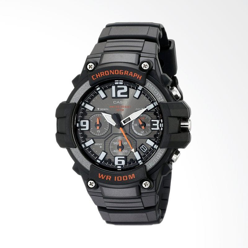 Casio Men's Heavy Duty-Design Chronograph Watch Jam Tangan Pria - Black MCW-100H-9AVCF
