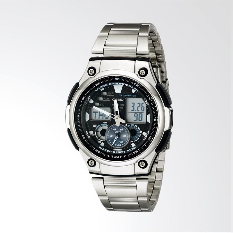 Casio Men's Multi-Task Gear Sports Watch Jam Tangan Pria - Silver AQ190WD-1A