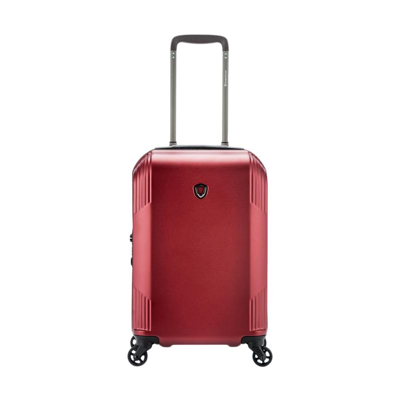 Traveler's Choice Riverside Hardcase Small Trolley Bag - Burgundy [21 Inch]