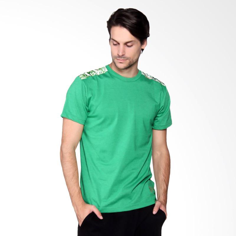 Batik Heritage Abstrak T-Shirt Pria - Green