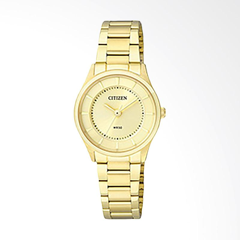 Citizen ER0209-54P Women Quartz Champagne Dial Gold-tone Stainless Steel Jam Tangan Wanita - Gold