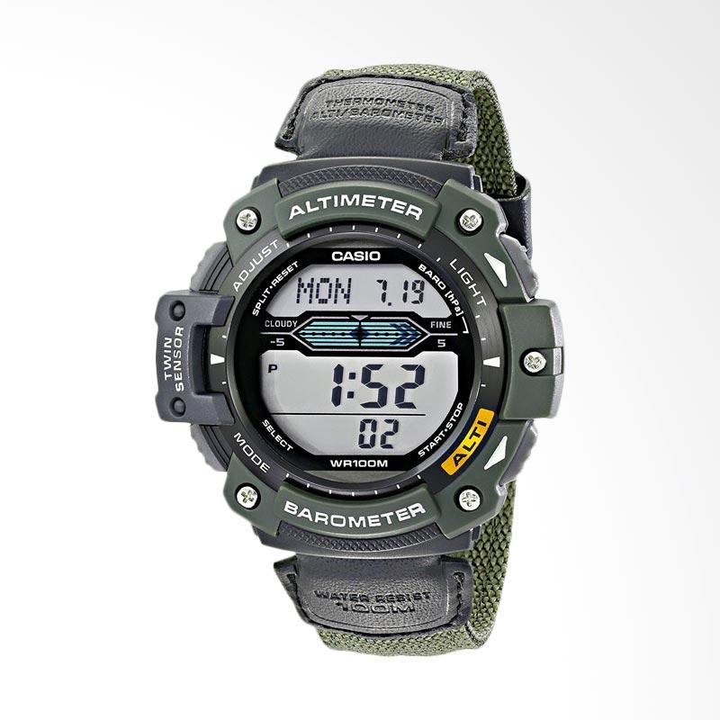 Casio Men's Multi-Function Sport Watch with Green Nylon Band Jam Tangan Pria SGW300HB-3AVCF