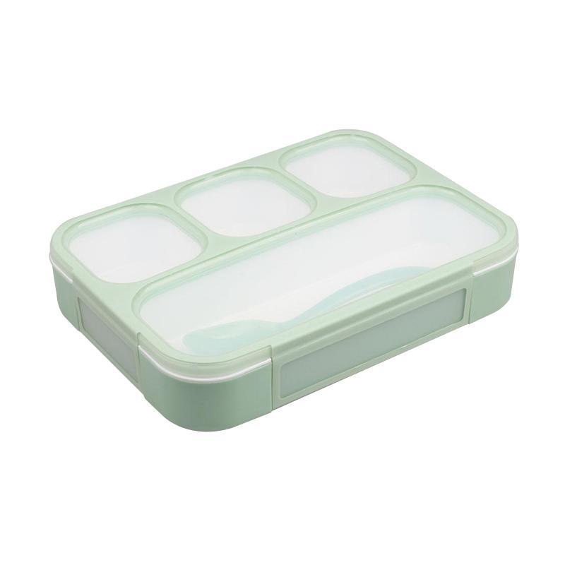 YOOYEE 578 Grid Bento Kotak Makan - Hijau [Sekat 4]