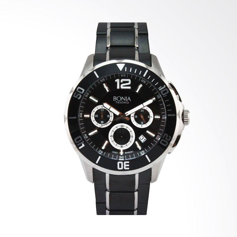 Bonia - Jam Tangan Pria - B868-1335C - Silver Black