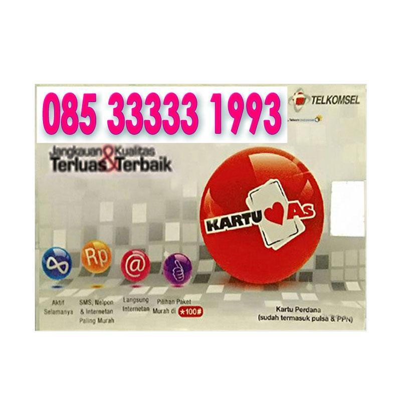 Harga Jual Telkomsel As Nomor Cantik 08533333 1993 Kartu Perdana Terbaru