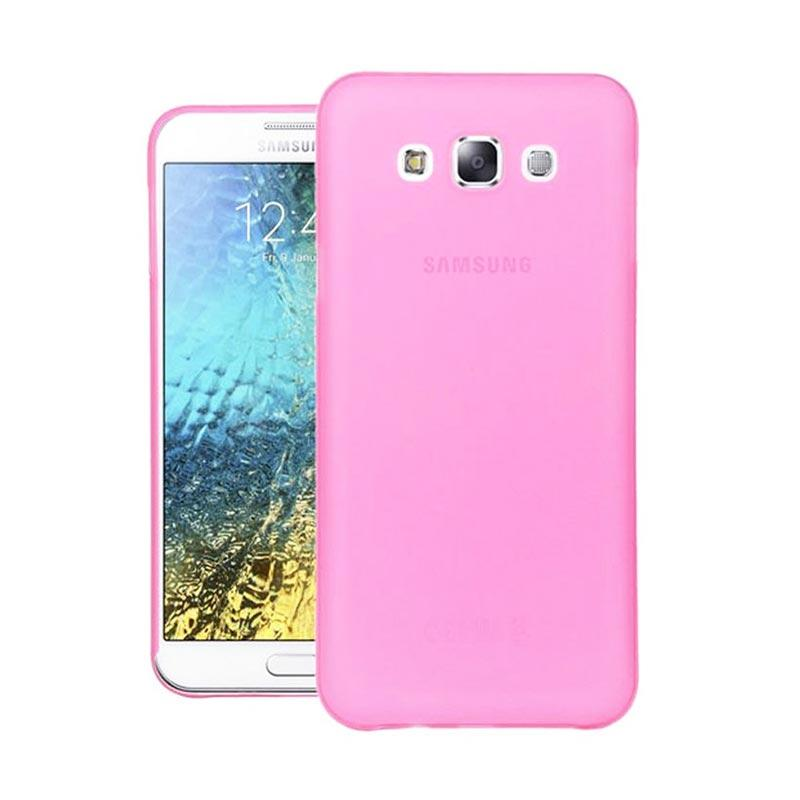 Ume Ultrathin Silicone Jelly Softcase Casing for Samsung Galaxy E5 E500 - Pink